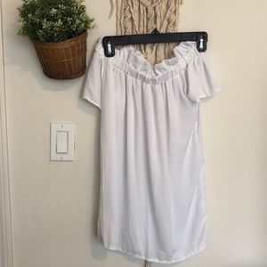 Tops - White off shoulder blouse size small